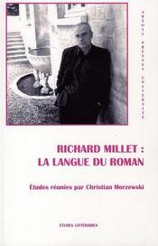 Richard Millet : La Langue Du Roman - Intérieur - Format classique