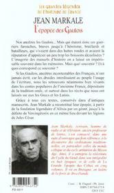 L'epopee des gaulois - 4ème de couverture - Format classique