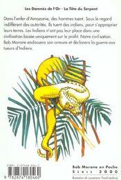 La Tete Du Serpent ; Damnes De L'Or - 4ème de couverture - Format classique