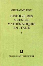 Histoire des sciences mathématiques en Italie. - Intérieur - Format classique