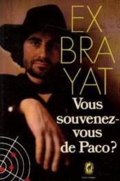 Vous Souvenez-Vous De Paco ? - Couverture - Format classique