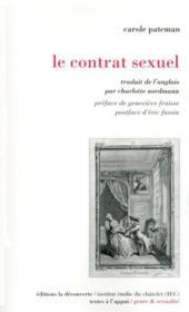 Le contrat sexuel - Couverture - Format classique