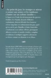 La geste des Sanada - 4ème de couverture - Format classique