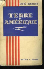 Terre D'Amerique. - Couverture - Format classique