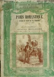 Paris Romantique. Voyage En France De Mrs Trollope. ( Avril - Juin 1835 ). - Couverture - Format classique