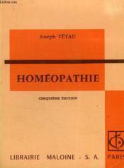 Homeopathie - Couverture - Format classique