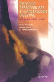 Médecine personnalisée en cancérologie digestive - Couverture - Format classique
