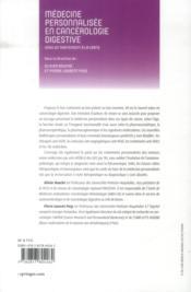 Médecine personnalisée en cancérologie digestive - 4ème de couverture - Format classique