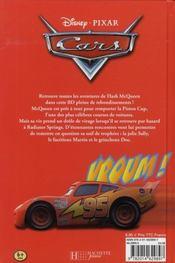 Bd animée Cars - 4ème de couverture - Format classique