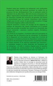 Assurance des risques d'entreprise dans les pays de la CIMA - 4ème de couverture - Format classique
