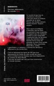 Anarchistes ; derniers défenseurs du monde libre - 4ème de couverture - Format classique
