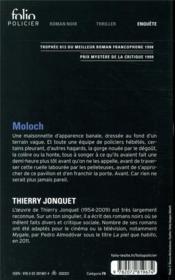 Moloch - 4ème de couverture - Format classique