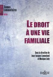 Le droit à une vie familiale - Intérieur - Format classique