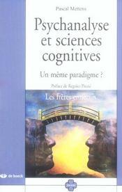 Psychanalyse et sciences cognitives - Intérieur - Format classique