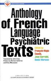 Anthology of french language psychiatric texts - Couverture - Format classique