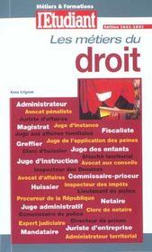 Les Metiers Du Droit - Intérieur - Format classique