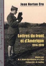 Lettres du front et d amerique (1914-1919) - Intérieur - Format classique