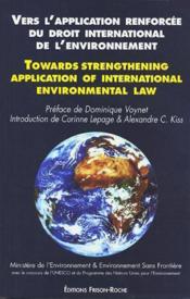Vers l'application renforcee du droit international de l'environnement - Couverture - Format classique