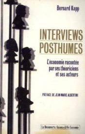 Interviews Posthumes - Couverture - Format classique