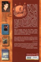 Derniers récits de voyages en Nouvelle France et autres écrits 1620-1632 ; réédition intégrale en français moderne - 4ème de couverture - Format classique