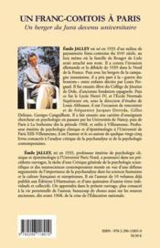Un franc-comtois à Paris ; un berger du Jura devenu universitaire - 4ème de couverture - Format classique