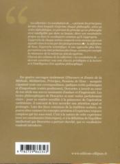 Le vocabulaire de Descartes - 4ème de couverture - Format classique