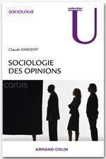 Sociologie des opinions - Couverture - Format classique