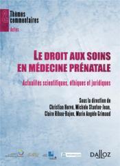 Le droit aux soins comme droit de l'homme en médecine prénatale (édition 2011) - Couverture - Format classique