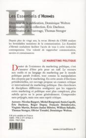 Le marketing politique - 4ème de couverture - Format classique