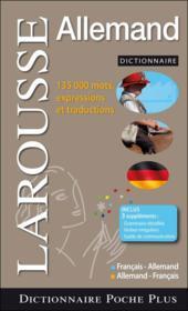 Dictionnaire Larousse de poche plus ; français-allemand / allemand-français - Couverture - Format classique