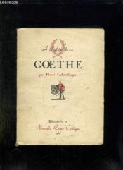 A La Gloire De Goethe. - Couverture - Format classique