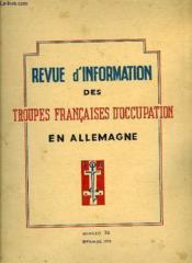 Revue D'Information Des Troupes Francaises D'Occupation En Allemagne - Numero 36 - Couverture - Format classique