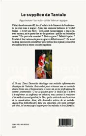 Le supplice de Tantale ; apprivoiser la recto-colite hémorragique - 4ème de couverture - Format classique