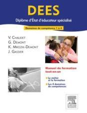 Dees ; diplôme d'Etat d'éducateur spécialisée ; dc 1 à 4 - Couverture - Format classique