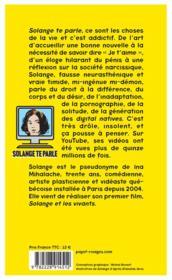 Solange te parle - 4ème de couverture - Format classique