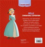 Disney Princesses ; petites histoires de grands héros ; Belle, l'incroyable expédition - 4ème de couverture - Format classique