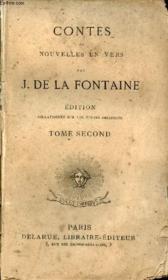Contes et nouvelles en vers - Edition collationnée sur les textes originaux - Tome second. - Couverture - Format classique