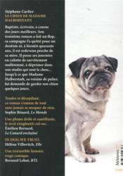 Le chien de madame Halberstadt - 4ème de couverture - Format classique