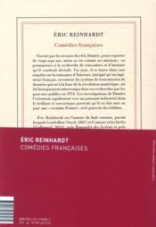 Comédies françaises - 4ème de couverture - Format classique