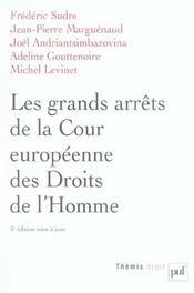 Les grand arrêts de la Cour europeenne des droits de l'homme (3e édition) - Intérieur - Format classique
