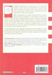 Droit international privé - 4ème de couverture - Format classique