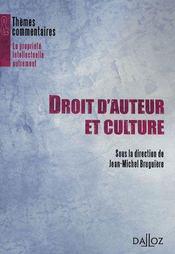 Droit d'auteur et culture - Intérieur - Format classique