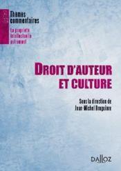 Droit d'auteur et culture - Couverture - Format classique