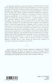 Les Limites De L'Empire ; Les Strategies De L'Imperialisme Romain Dans L'Oeuvre De Tacite - 4ème de couverture - Format classique
