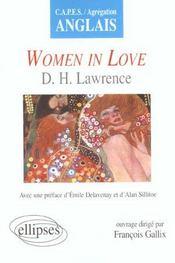 Women In Love D.H.Lawrence Capes/Agregation Anglais - Intérieur - Format classique