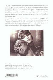 Women In Love D.H.Lawrence Capes/Agregation Anglais - 4ème de couverture - Format classique