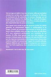 Reussir Les Epreuves De Type Message Admissions En Maitrise De Sciences De Gestion Et 2e Annee D'Iup - 4ème de couverture - Format classique