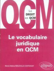Le vocabulaire juridique en qcm - Intérieur - Format classique
