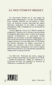 Le Mouvement Freinet - 4ème de couverture - Format classique