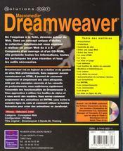 Solutions Net Dreamweaver 3 - 4ème de couverture - Format classique